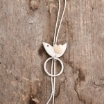 Bird necklace, silver and gold (18k), £70.00