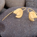 Snowdrops earrings, gold plated silver.   £46.00