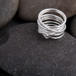 Silver wire ring. £40.00