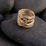 Gold filled wire ring.  £58.00