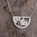 Snowdrops necklace, silver.  £90.00