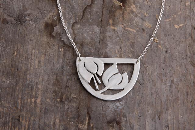 Snowdrops necklace, silver.  £90.00
