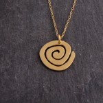 Spiral on chain necklace, gold plated silver.  £58.00