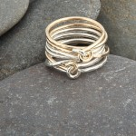 Silver and gold wire ring, silver, gold filled. £50.00