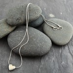 Heart necklace, silver, 18k gold. £67.00