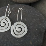 Spiral earrings, silver.  £48.00