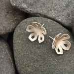 Winter Rose stud earrings, silver. £32.00