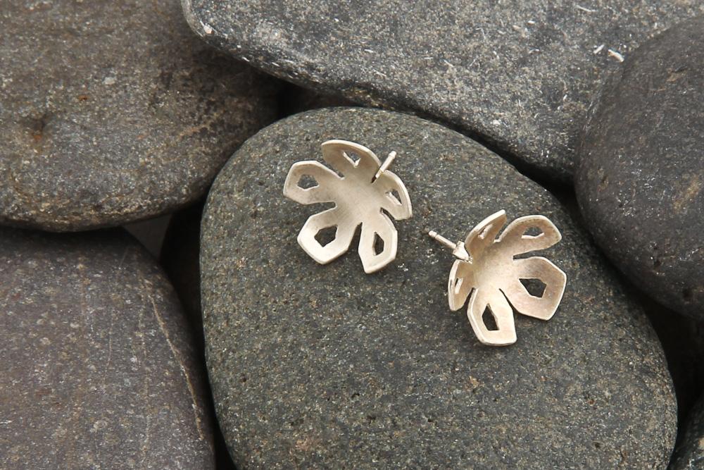 Winter Rose stud earrings, silver. £32.00